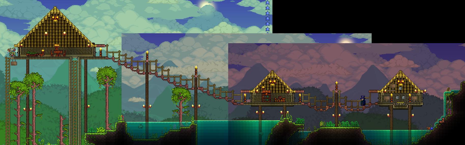 terraria how to build bridges